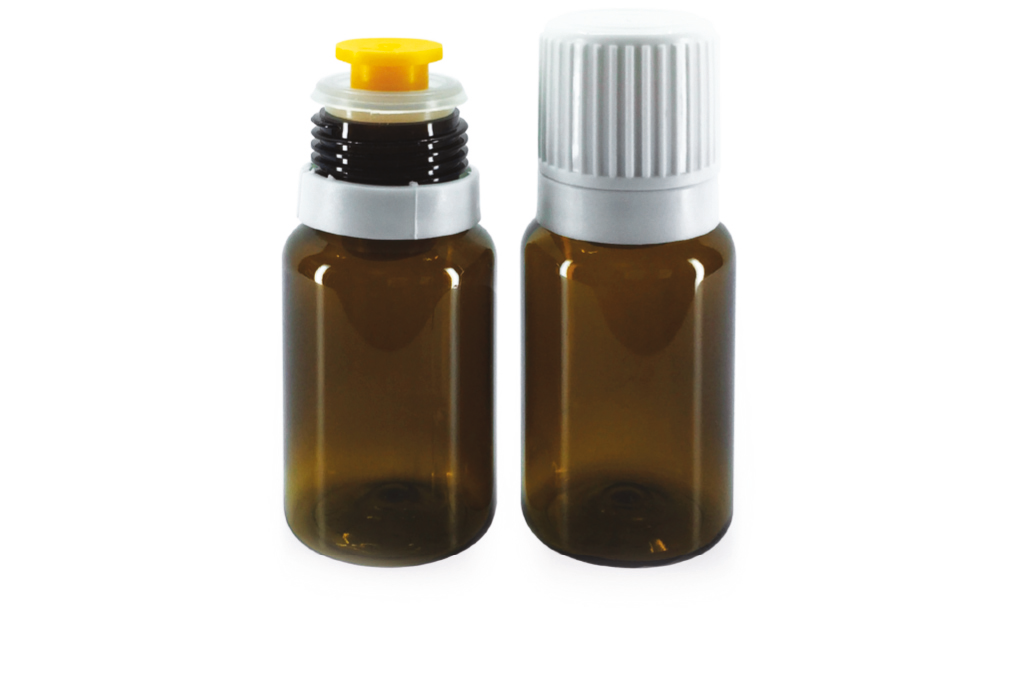 bottle and dosing cap 3PHASE BORMIOLI for dietary, food and nutritional supplements
